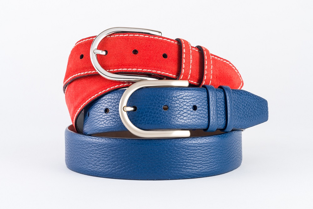 cinture-pelle-rossa-blu